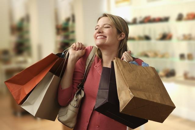 woman who is a shopoholic